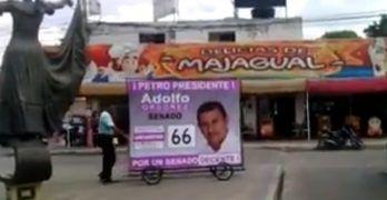 Con 2 millones de pesos prestados, el sincelejano Adolfo Ordoñez está muy cerca de ser senador