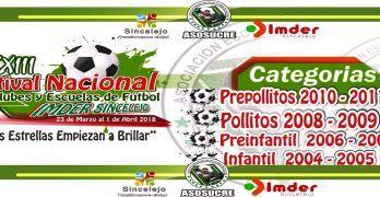 Toda la información del XXIII Festival Nacional de Clubes y Escuelas de Fútbol 2018 en Sincelejo